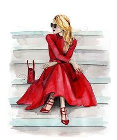 Glamorous Fashion Sketches and Illustrations: Best 50 - Glamour Lifestyle Fashion Art, Girl Fashion, Trendy Fashion, Fashion Ideas, Space Fashion, Affordable Fashion, Fashion Women, Fashion Dresses, Casual Mode