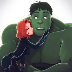 Black Widow and Hulkby Arthur França #Avengers