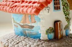 Пряничный дом в морском стиле.