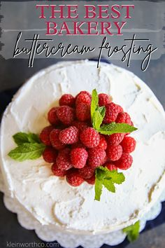Wondering how to make the Best Bakery Buttercream Frosting? I'm the daughter of a professional baker & I can tell you, THIS is the ULTIMATE frosting!