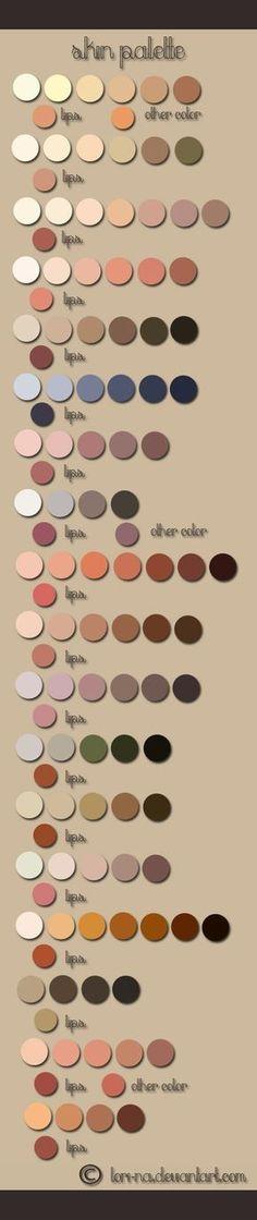 skin color pallette