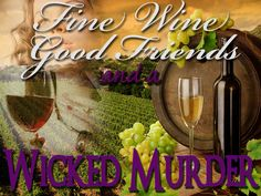 Wine Tasting Murder Mystery -  Instant Download
