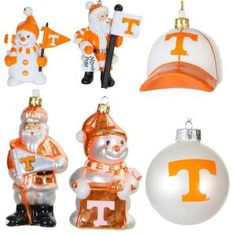 3 in. - 5 in. University of Tennessee Collegiate Christmas Ornament Assortment (Pack of 6)-HD-C4TN at The Home Depot