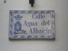 Calle del Agua del Albaicín