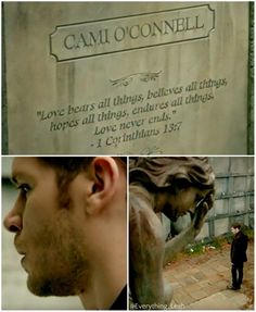 klaus visited camille's grave before he left nola in the season 4 finale. klamille is eternal. #to #theoriginals
