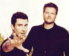 Would love to have a romance with this bro-mance - Adam Levine and Blake Shelton