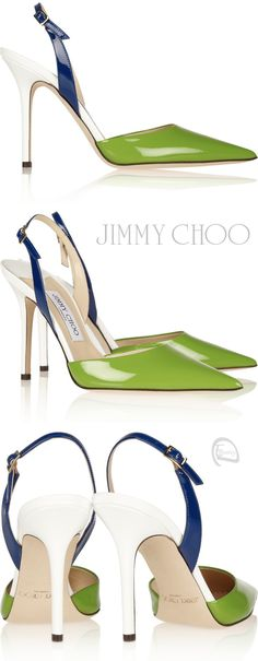 Emmy DE * Jimmy Choo Volt Colorblock Slingbacks