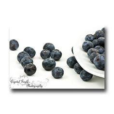 Küche Wand Kunst Blueberry Decor blau weiß von CrystalGaylePhoto