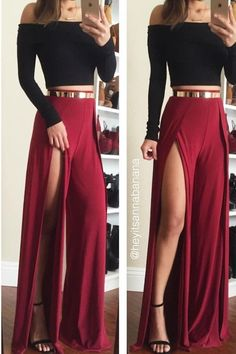 Fashion long-sleeved two-piece dress Crop Top Outfits, Mode Outfits, Skirt Outfits, Dress Skirt, Summer Outfits, Casual Outfits, Dress Up, Fashion Outfits, Fashionable Outfits