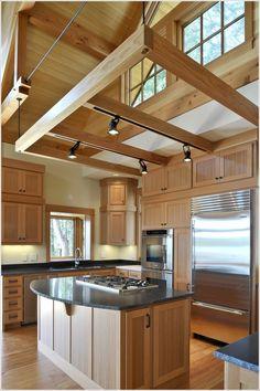 Stupefying Garage attic renovation,Attic bedroom price and Attic remodel low ceiling. Attic Apartment, Attic Rooms, Attic Spaces, Barn Lighting, Kitchen Lighting, Track Lighting, Lighting Ideas, New Kitchen, Kitchen Decor