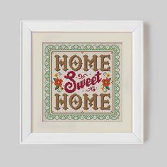 Home Sweet Home - Cross Stitch Pattern (Digital Format - PDF) by Stitchrovia on Etsy https://www.etsy.com/listing/187360461/home-sweet-home-cross-stitch-pattern