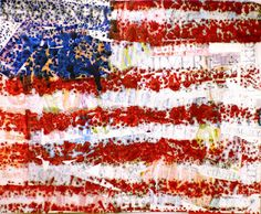 "Jasper Johns ""Encaustic"" Flags with directions. Awesome end result! I want to try this!!"