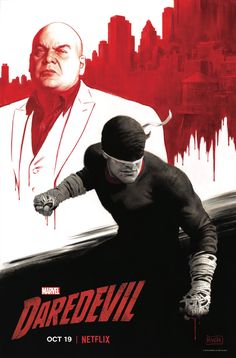 Ahead of New York Comic-Con next weekend, artist Paolo Rivera has shared his con-exclusive poster for the highly-anticipated third season of Marvel/Netflix's Daredevil, spotlighting our hero and villain. Marvel Comics, Ms Marvel, Marvel Art, Marvel Heroes, Marvel Characters, Horror Comics, Daredevil Punisher, Daredevil Artwork, Marvel Universe