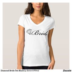 e7d1c2c0 Diamond Bride Tee Black V Neck Tee, Kids Shirts, T Shirts For Women,