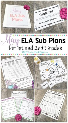 May Sub Plans for 1s