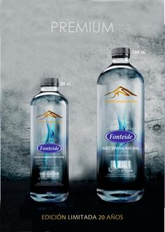 Fonteide new premium bottle for the 20 Year Anniversary developed by PET Engineering's designers!
