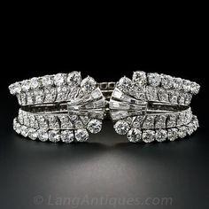 Diamond, Platinum Cuff Bracelet, Circa 1950's by Eliakim Le Caire