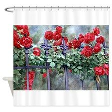 Rose Climbers Shower Curtain for