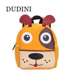 DUDINI New 3D Cute Animal Design Backpack Kids School Bags For Teenage Girls Boys Cartoon Dog Monkey Shaped Children Backpacks