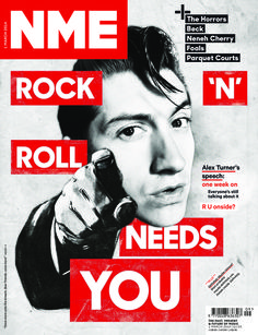 NME - March 1,2014 :  Rock Roll needs you and The Horrors Beck Neneh Cherry Foals Parquet Courts and Beck in black and more...
