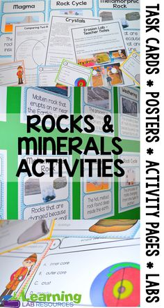 Rocks and Minerals Activities and Weathering Anchor Chart $