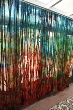 Sublime Useful Ideas: Boho Curtains Navy floral curtains decor.No Sew Curtains Cherries no sew curtains cherries. Drop Cloth Curtains, Burlap Curtains, Boho Curtains, Floral Curtains, Colorful Curtains, Hanging Curtains, Luxury Curtains, Ikea Curtains, French Curtains