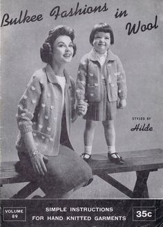 Mother and Baby Matching Jackets Vintage