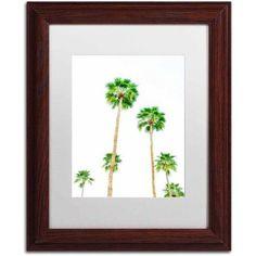 Trademark Fine Art 'Palms 6' Canvas Art by Ariane Moshayedi, White Matte, Wood Frame, Size: 11 x 14, Multicolor