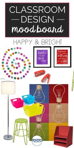 I love a happy and bright classroom! If you love making your classroom colorful and fun, then this mood board is for you! Classroom Design, Classroom Themes, Board Decoration, Creative Teaching, Elementary Teacher, Learning Activities, Bright, Make It Yourself, Colorful