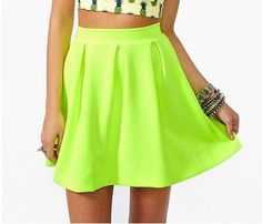 Candy Colored High-Waisted Skirt
