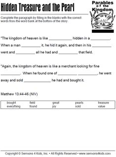 Parables of the Kingdom - Fill in the Blanks Quiz