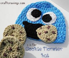 C is for Cookie Monster Hat (crochet pattern) - Craft Cravings