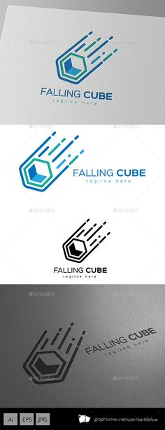 Falling Cube Logo Design Template Vector EPS, AI. Download here: http://graphicriver.net/item/falling-cube-logo-design/11221241?ref=ksioks