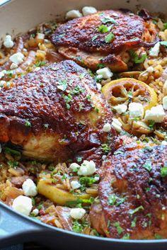 Bone In Chicken Recipes, Pork Recipes, Spicy Recipes, Yummy Recipes, Vegetarian Comfort Food, Healthy Comfort Food, Beef Recipe Spicy, Skinless Chicken Recipe, Harissa Chicken