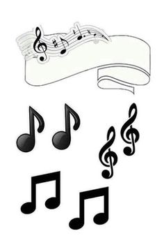 Music in Black and White Free Printable Quinceanera Cake Toppers. Beatles Party, The Beatles, Party Printables, Free Printables, Bubble Guppies, Bolo Musical, Music Cakes, Candy Bar Labels, Quinceanera Cakes