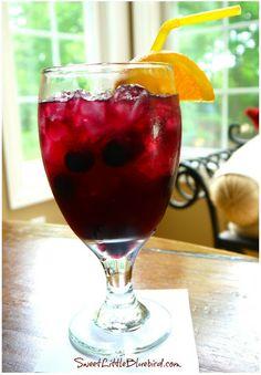 Fruity Summer Sangria Recipe - Summer in a glass!  | SweetLittleBluebird.com