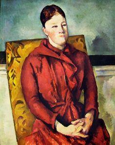 Paul Cézanne - Ritratto di Madame Cézanne nella poltrona gialla, 1890