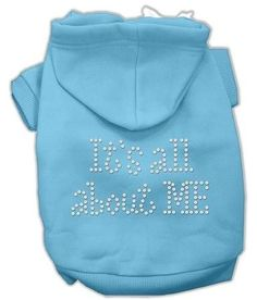 It's All About Me Rhinestone Hoodies Baby Blue M (12)
