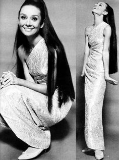 She looks INCREDIBLE with long, loose hair!Audrey Hepburn in Givenchy - 1964 - Vogue - Photo by Sir Cecil Beaton Audrey Hepburn Mode, Audrey Hepburn Outfit, Audrey Hepburn Pictures, Divas, Hollywood Glamour, Old Hollywood, Vintage Beauty, William Klein, Cecil Beaton