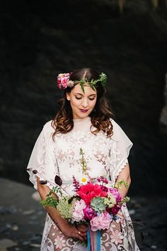 Swooned: Love, Abstracted: A Colorful, Bohemian-Spirited Shoot at Tunnels Beaches