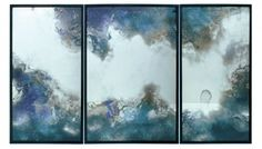 East Sussex, England The triptych Orion, a custom commission by the British designer Tom Palmer, is the result of water silvering. Utilizing his own version of the technique, which dates to the 17th century, Palmer floats a mixture of superfine silver onto glass and thus creates mesmerizing compositions. The designer's bespoke creations also include furniture and accessories. +44.1747.440.726, tompalmerstudio.com