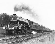 On November 30, the 1934, the LNER locomotive hit the magic 100pmh speed on the downwards slope of Stoke Bank near Grantham (pictured) becoming the world's fastest train...