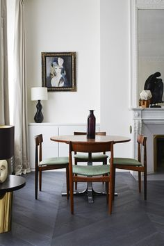 danish dining chairs and table