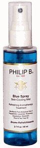 Philip B Blue Spray Skin-Cooling Mist, 2.7 oz by Philip B.. $22.75. Use: Spritz PHILIP B Blue Spray on your body for an instantly refreshing aromatherapy treatment or use as an air-or linen-freshener. NOT FOR USE ON FACE, HAIR OR SENSITIVE AREAS.. Paraben & Phthalate Free Formula. Refreshing Aromatherapy Treatment with Menthol & Pure Botanical Oils of Peppermint, Lavender, Rosemary, Eucalyptus, Marjoram, Pine & Tea Trea Oil.. Product Description:  Philip B. Blue Spray S...