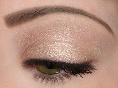 Just one color.  Beautiful by BFTE $2   (butter yellow/gold with pink duochrome) Metallic Eyeshadow, Eyeshadow Looks, Victorian Costume, Makeup Inspo, One Color, Hair Makeup, Butter, Make Up, Cosmetics