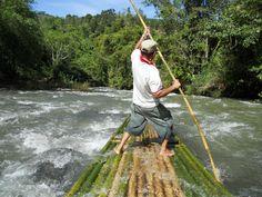 Bamboo Rafting | kalimantan borneo