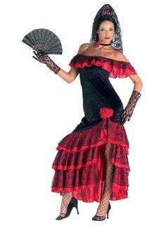 Spanierinkostüm Spanierin Sexy Spanish-Girl Kostüm Sexy Flamencokostüm