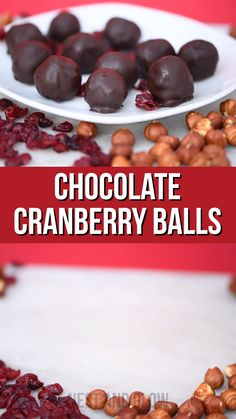 3 Ingredient Cranberry Chocolate Candy – vegan + healthy chocolate cranberry balls healthy vegan and sugar free sweets that are full of goodness Chocolate Bonbon, Chocolate Candy Recipes, Healthy Chocolate, Blueberry Chocolate, Chocolate Candies, Chocolate Truffles, Chocolate Brownies, Vegan Sweets, Healthy Sweets