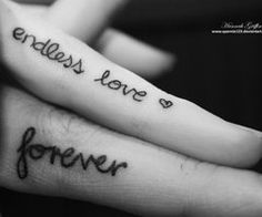 Rather than get a real tattoo, Jessica suggests that you write this or another loving message, on your fingers with a thin line permanent ink pen.