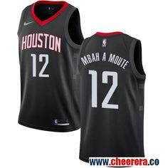 71e8720f Houston Rockets Luc Mbah a Moute Black Nike NBA Men's Stitched Swingman  Jersey